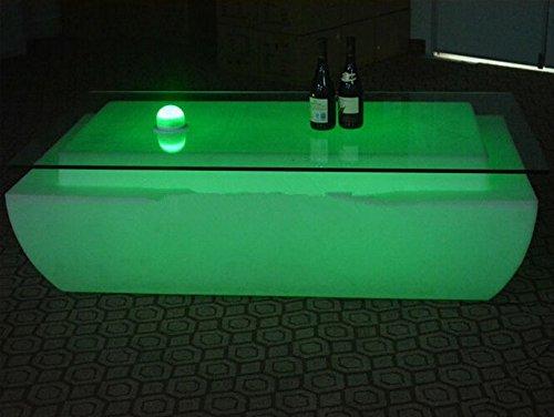 Gowe télécommande LED Light Table Meuble de salon de luxe Hôtel KTV Bar Tables Table basse carrée
