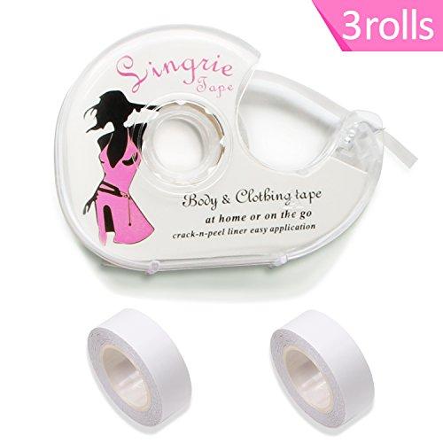 ges Klebeband für den Körper, Push-up-Tapes Brusttape Klebe-BH Mit zwei rollen Und Abroller(3 pcs) (Die Kleidung)