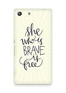 AMEZ she who is brave is free Back Cover For Sony Xperia M5