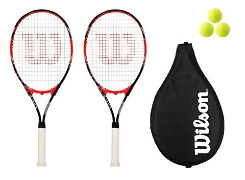 Wilson - Tennis Schläger 2 Stück Tour 110 Red + 3 Tennis Bälle