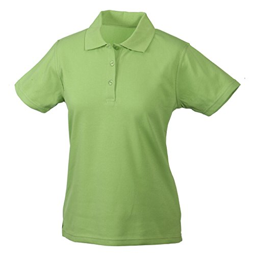 JAMES & NICHOLSON Polo respirant manches courtes CoolDry® vert gazon