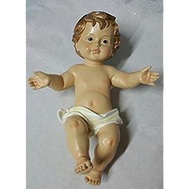 bambino GESU/' 19 cm resina PRESEPE NATALE baby JESUS Jesùs ADDOBBI bambinello