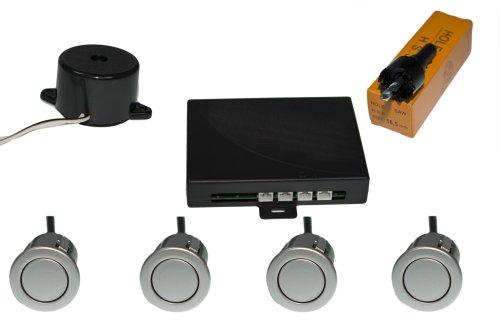 Unbekannt Einparkhilfe mit Buzzer 4 x Sensoren 18 mm (silber)