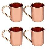 Zap Impex ® Reines Kupfer Moscow Mule Tasse, keine Beschichtung, reines Kupfer, ideal für alle gekühlten Getränk blendend zu unterhalten & Bar oder zu Hause, große Bar Geschenk-Set von 4