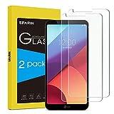 SPARIN LG G6 Protector de Pantalla 2-pack, Cristal Templado para LG G6 Resistente a Golpes y Rayado, Alta Transparencia , Vidrio Templado LG G6