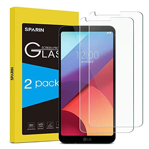 SPARIN [2 Pièces] LG G6 Protection D'écran, Protecteur Ecran en Verre Trempé pour LG G6, [sans Bulles] [2.5D/9H Dureté] Anti-Rayures, Haut Définition