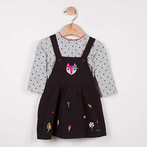 Catimini Baby-Mädchen Kleid Robe + T-Shirt Pour, Grau (Charcoal Grey 29), 2 Jahre (Herstellergröße: 2A) -