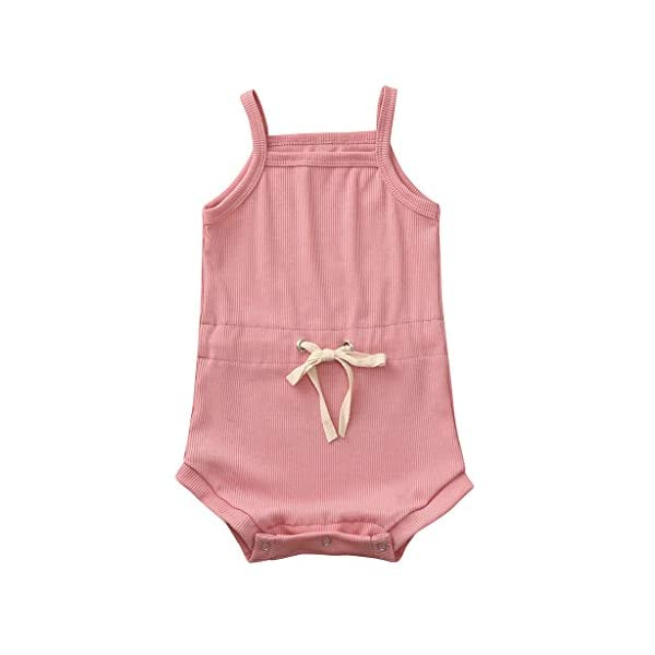 Pijama de bebé sin Mangas para niña, Pelele de bebé Elegante, Pelele de algodón de Pelele, Body de bebé Divertido, Body… 2