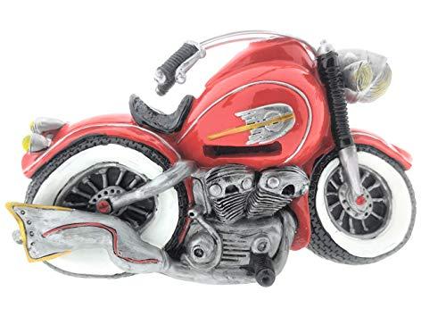 Spardose Motorrad Chopper rot Old Style Deko Sparschwein-Büchse aus Poly ca. 21x10x13 cm