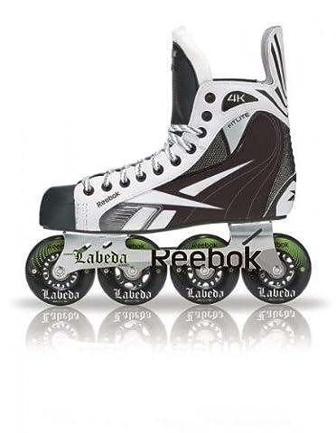 Ruedas Reebok 4K Roller Hockey Skate senior + 8 rata de la pista de forma gratuita!, größe reebokschlittschuhe:11 = 46