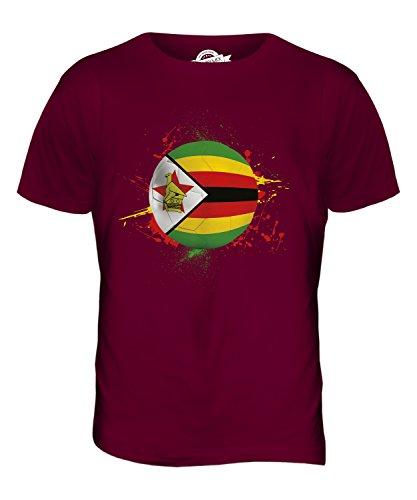 CandyMix Simbabwe Fußball Herren T Shirt Burgunderrot