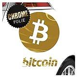 Kiwistar Bitcoin Motiv 2 Kryptowährungen Aufkleber Sticker 25 Farben Neon Matt