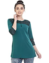 Identiti Women's Wrap Kurta(558-80020-19 _Green_Small)