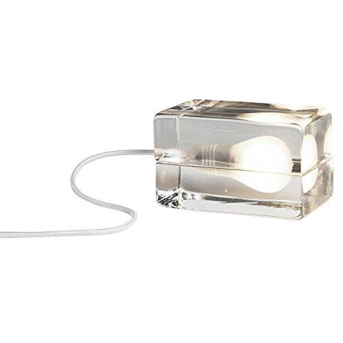 DesignHouseStockholm Block Lamp LED - Lampe de table, transparent câble blanc