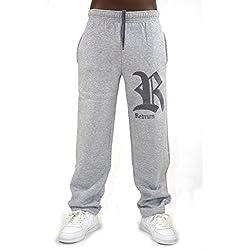 REDRUM Jogginghose Sweatpants Sport Hose Baumwolle Grau - Modell Napoli (XXXL)