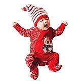 VICGREY Bambino Bambino Pagliaccetto Elegante, Ragazzi Ragazze Pagliaccetti Manica Lunga Abbigliamento Giornaliero Romper Tuta Natale Regalo