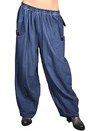 94f700b0b381 Damen Lagenlook Weite Winter Übergang Harem Hose Haremshose 42 44 46 48 50  52 54 56 M L XL XXL 3XL Jeans…