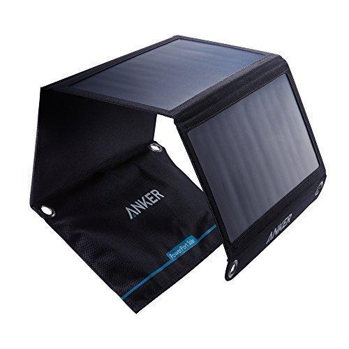 Anker PowerPort Solar – Chargeur Solaire Portable 21W 2 Ports USB pour iPhone X / 8 / 8 Plus / 7 / 7 Plus / 6 / 6 Plus, iPad Air 2 / mini 3, Galaxy S6 / S6 Edge et bien d'autres