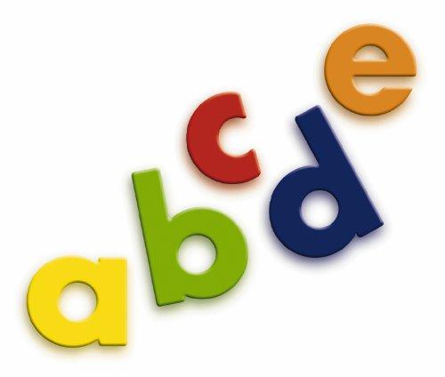 Quercetti 5460 - Magetic 40 magnetische Kleinbuchstaben (Abc-großbuchstaben Alphabet-magnete)