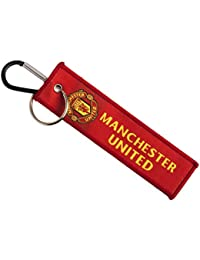 Techpro Premium Quality Cloth Locking Keychain With Doublesided Red Manchester Design