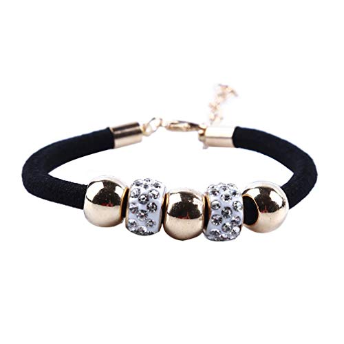 LJSLYJ Einfache Slide Perlen Design Kristall Seil Kette Charme Armbänder Schmuck für Frauen Perlen Armbänder