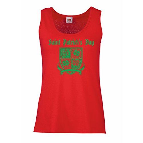 damen-tank-top-saint-patricks-day-shamrock-symbol-irish-party-time-medium-rot-mehrfarben