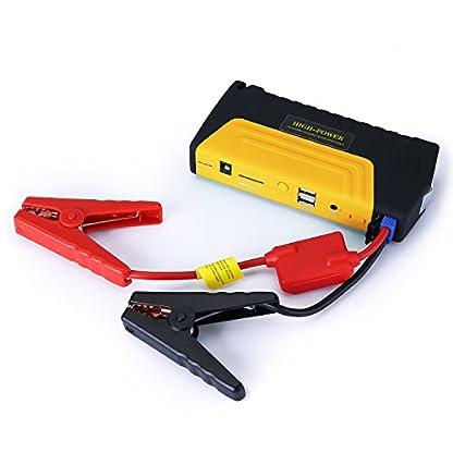 41dzC3BztoL. SS416  - Arrancador de Coche de 16800 mAh, YOKKAO, Jump starter Cargador para Baterías de 12V y Cargador de 12V, 16V y 19V, Batería Externa con Luces de Emergencia, Kit de Arranque para Coche, Moto y Cargador de Smartphone, Laptop, etc. (Amarillo)