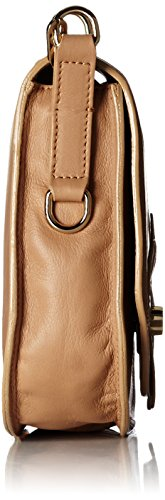 kaviar gauche  Flower Flap shoulder Bag, Sacs bandoulière femme Beige - Beige (biscotto/light gold)