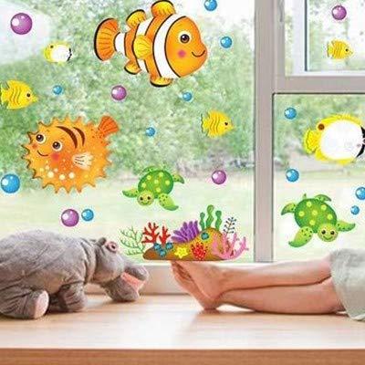 ine Fish Kreative Schlafzimmer Dekoration Kindergarten Klassenzimmer Thema Aufkleber Standardcode A8 ()