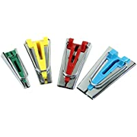 CLE DE TOUS - Set para coser cinta de biés de tela Maker para Costura manualidades 6cm 12cm 18cm 25cm