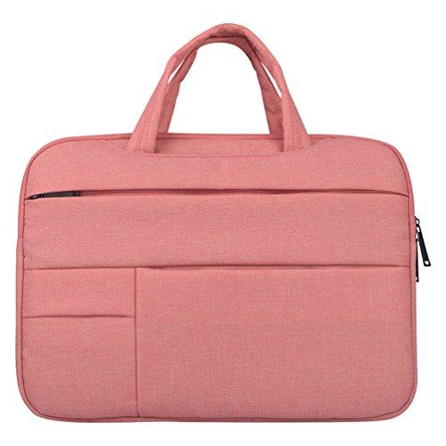 Yuncai 11.6-15.6 Zoll Multifunktional Laptop Handtasche Apple Macbook Stoßfest Notebook Schutztasche Pink 14Inch