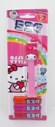 Hello Kitty Dispenser with 3 Kosher Pez Refill Candies in Blister Pack by Paskesz