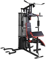 SportPlus Kraftstation/Homegym mit 55kg Gewichtsplatten, inkl. Brustpresse