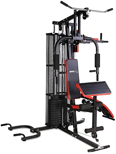 SportPlus Kraftstation Multifunktionale Fitnessstation für zuhause Inkl. Gewichte Krafttraining für den ganzen Körper Multistation Aufbauanleitung & Übungsanleitung Sicherheit geprüft