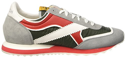 Walsh Sport Style, Chaussures de Basketball homme Multicolore (Grey/Dk Green/Red)