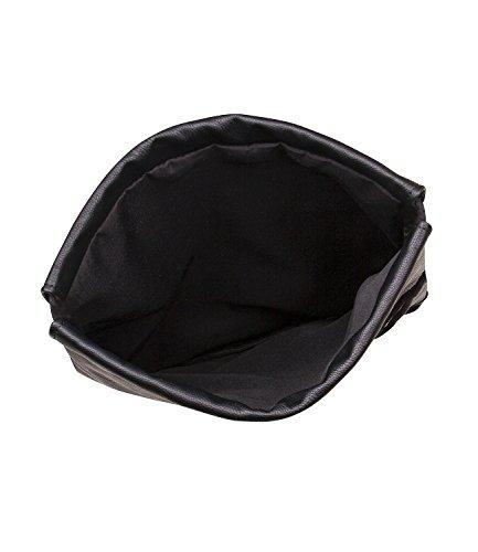 SIX-Basic-Damen-Handtasche-Schultertasche-Rucksack-Beutel-in-schwarz-Leder-Optik-463-852