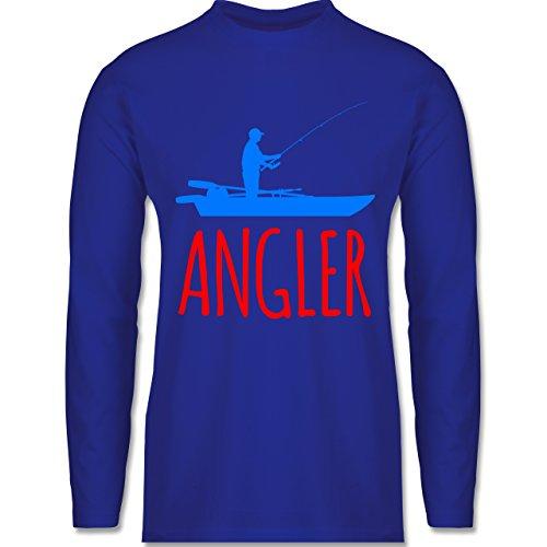Shirtracer Angeln - Angler Boot - Angelboot - Herren Langarmshirt Royalblau