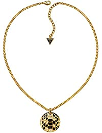 Guess Damen Halskette Vergoldetes Metall Emaille gold