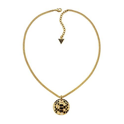 Guess Damen Halskette Vergoldetes Metall Emaille gold (Guess Halskette Damen Gold)