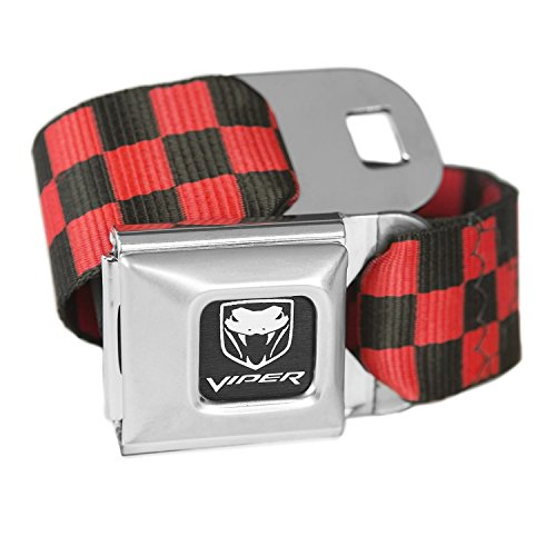 checkered-red-dodge-viper-seatbelt-buckle-fashion-belt-officially-licensed
