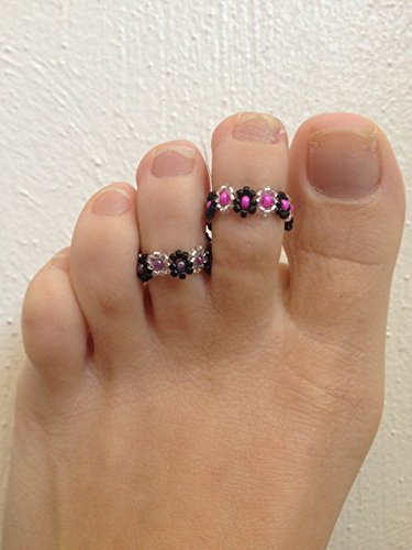 glass-beads-elastic-toe-finger-ring-set-of-2