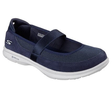 Leder-walking-mary Janes (Skechers Womens/Ladies Go Step Snap Suede Athletic Mary Jane Shoes)