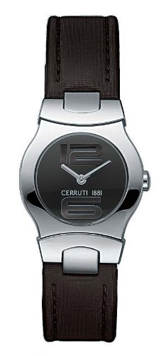 Cerruti CT061222004 - Reloj analógico de mujer de cuarzo con correa de piel negra - sumergible a 30 metros