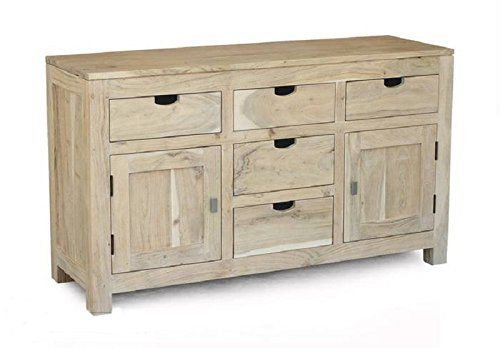 bois massif meuble acacia BUFFET BOIS MASSIF meuble naturel blanc #80