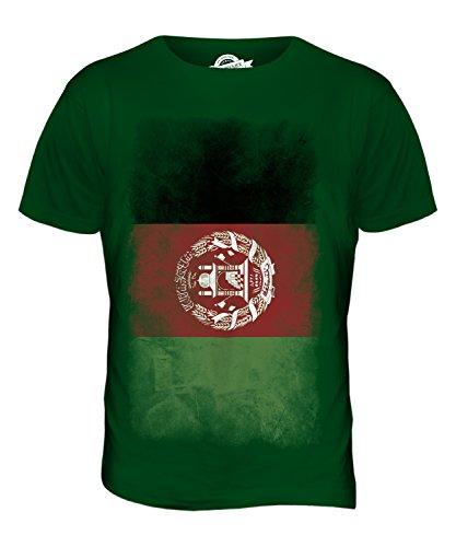 CandyMix Afghanistan Verblichen Flagge Herren T Shirt Flaschengrün