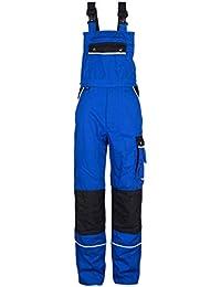 TMG® - Mono para mecánicos y fontaneros - Resistente con pechera y rodilleras - Azul real