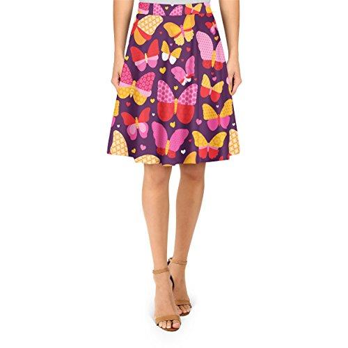 Hot Pink Butterflies A-Line Skirt - XS Rock