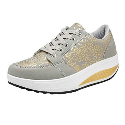 4bf63026cb7000 Laufschuhe Damen Damenmode LäSsige Lace Up Atmungsaktive Sport Plattform  Sneakers Schuhe Turnschuhe Running Atmungsaktiv Wanderstiefel  Sicherheitsstiefel