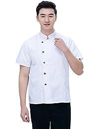 Freahap Chaqueta Chef Camisa de Cocinero Manga Corta de Verano