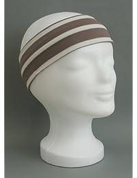 Stirnband taupe - natur gestreift verschiedene Größen von Modas